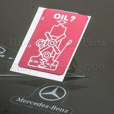 MERCEDES Warn Aufkleber W107 W108 W109 W110 W111 W112 ÖL OIL  Motorölstand