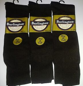 Burlington Dress Nylon Crew Sock, Big&Tall(12 & up), Chocolate Brown, 3pr $12.99