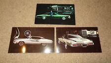 3 1972 Pontiac Postcards. Grand Prix, Le Mans, & Grandville. 72  LeMans dealer