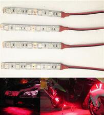 4PCS Red Car Flexible Waterproof IP65 LED SMD Strip Light Bulb 6 LEDs 12V