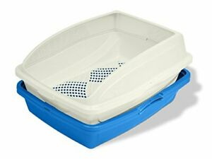 Van Ness CP5 Sifting Cat Pan/Litter Box with Frame Blue/Gray19'' x 15.13''