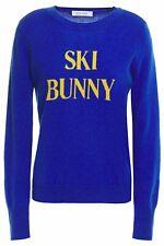 FRAME NWT $295 Blue Ski Bunny Intarsia Wool Cashmere Blend Sweater Sz M
