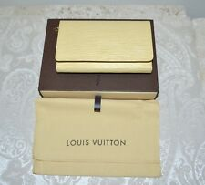 Excellent $975 LOUIS VUITTON Epi Leather French Wallet Vanilla