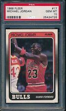 PSA 10 MICHAEL JORDAN 1988-89 88-89 Fleer #17 Chicago Bulls HOF GOAT GEM MINT