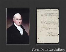Spy Benjamin Tallmadge & Facsimile Letter from George Washington - Matted Prints