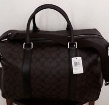 37a5cb8fb0 COACH Signature Explorer Men s Duffle Gym Travel Bag Mahogany Brown F93456  NWT
