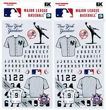 2 Packs Scrapbook Stickers EK Success NEW YORK YANKEES MLB Baseball!  Jersey