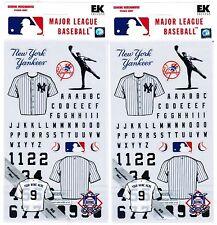 2 Packs Scrapbook Stickers EK Success NEW YORK YANKEES MLB Baseball!  Jersey