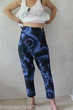 pantalon pantacourt tablier bleu M& FRANCOIS GIRBAUD 34 NEUF ÉTIQUETTE été 2012