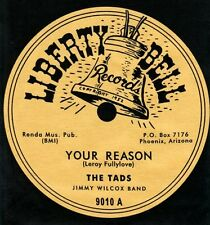 "DooWop THE TADS ""Your Reason"" Liberty Bell 78 label pre shrunk T-SHIRT Hazlewood"