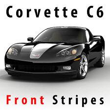 Chevrolet Corvette C6 Front Rally Stripes Decal Kit Pre-cut 2005 - 2013