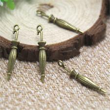 25pcs Umbrella Charms, Antique Tibetan Bronze 3D Umbrella Charm Pendant 35x6mm
