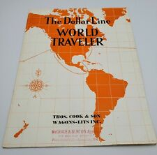 "Vintage The Dollar Line Steamship Company-""World Traveler"" Brochure-c. 1934"