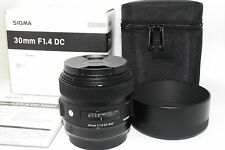 Sigma Art 30mm F/1.4 DC HSM Lens for Canon [ Mint ]  w/box,case From JAPAN