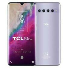 "Smartphone Tcl 10 Plus 6GB RAM 256GB 6.47"" Starlight Silver Dual Sim Italia"
