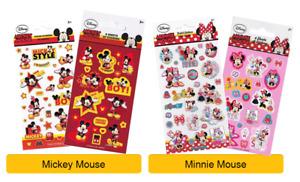 Disney MICKEY & MINNIE MOUSE Stickers - Birthday Christmas Xmas Gift Stationery