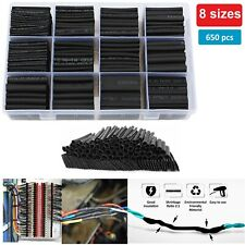 Heat Shrink Wire Wrap Assortment Set Tubing Electrical Connection Cable 650 Pcs