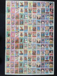 1986 Topps Garbage pail kids series 5 uncut rare non die cut 132 sticker sheet