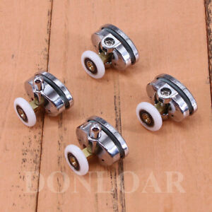 4 pcs Zinc Alloy Single Shower Door Rollers/Runners/Wheels 23mm wheel
