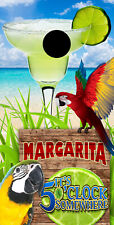 SINGLE- Cornhole Board- Bag Toss wrap - VINYL- BEACH - MARGARITA - PARROTS