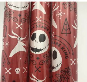 Nightmare Before Christmas Wrapping Paper  Disney Gift Wrap Lot Of Three New Red