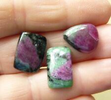 Natural Ruby Zoisite Free form Cabochons Group of 3 with 28 total Cts.