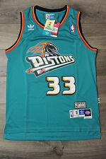 ... Grant Hill 33 Detrioit Pistons Jersey Swingman Classics Retro New Blue  Teal ... 07422590f