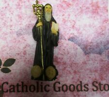 """Saint St. Benedict (Solid Resin) Statue, 4"""" tall"""