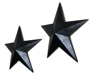 Wooden hanging star wall art Ebony black 39 or 52cm, vintage retro style~NEW