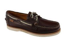 Sebago Men's Crest Docksides Dark Brown Boat Shoe