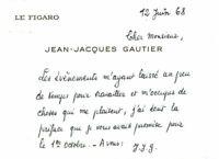 🌓 C.A.S. Jean-Jacques GAUTIER (1908-1986) | Mai 68 | Marcel Mithois | Le Figaro