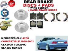 pour Mercedes CLK A208 convertible Disque de frein arrière Set + KIT PLAQUETTES