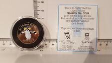 More details for 2017 coloured 50p falkland islands northern rockhopper penguin. error coin + coa