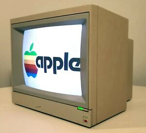 APPLE COMPUTER IIe COLOR COMPOSITE MONITOR A2M6021 TESTED WORKING VINTAGE 1991
