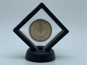 Mighty Morphin Power Rangers Coin Black Dino Thunder Master Morpher Legacy Gold