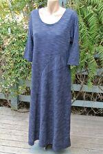 Navy/white Longline Dress Size L-16 Rockmans Trendy Design