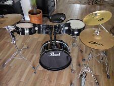 Pearl Rhythm Traveler Drum Set w/ Zildjian ride, hi-hat + extras- Barely Used -