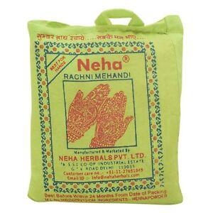 Neha Rachani Mehndi 100% Pure Herbal Henna Powder for Hair Coloring 1 Kg Pack