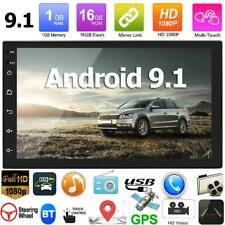 Double 2 DIN 7 inch Android 9.1 Car Stereo GPS Navi WiFi Bluetooth FM Radio