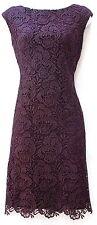 Ralph Lauren raisin purple lace crochet elegant occasion knee lenght dress 6