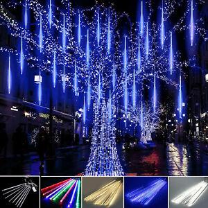 50CM LED Christmas Lights Meteor Shower Rain T8 Tube Snowfall Tree Outdoor Decor