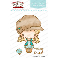 LOVABLE ANYA-The Greeting Farm Clear Photopolymer Stamp-Stamping Craft-Cards