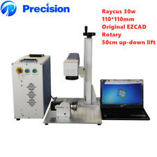 Raycus fiber laser marking machine 30w with rotary