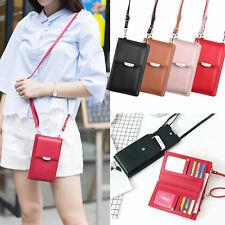 Women Leather Mobile Phone Bag Pouch Crossbody Purse Card Wallet Shoulder Bag US
