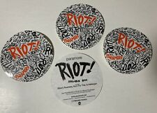 Paramore Riot 3 Promo Stickers for cd Hayley Williams Taylor York Zac Farro Mint