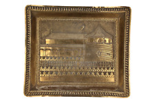 A brass tray Architectural fort design Indian ?