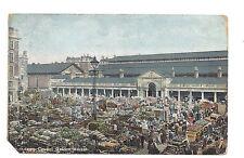 Vintage postcard London, Covent Garden Market. H M & Co. pmk Finsbury Park 1905
