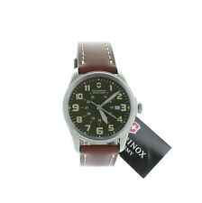 Victorinox Swiss Army Infantry Vintage Brown Leather Strap Watch for Men 241309