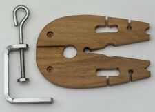 Bench pin & clamp hardwood vice V slot tool jewellery making craft peg jewellers