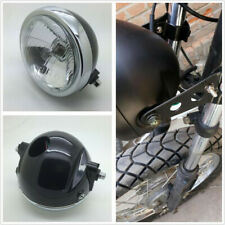 1 Pcs 6 inch Round Motorcycle Side Mount Headlight 12V 35W White High/Low Beam